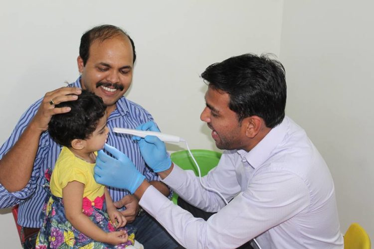 Dr. Swapnil Rachha treated child at soulful dental care Kothrud Pune